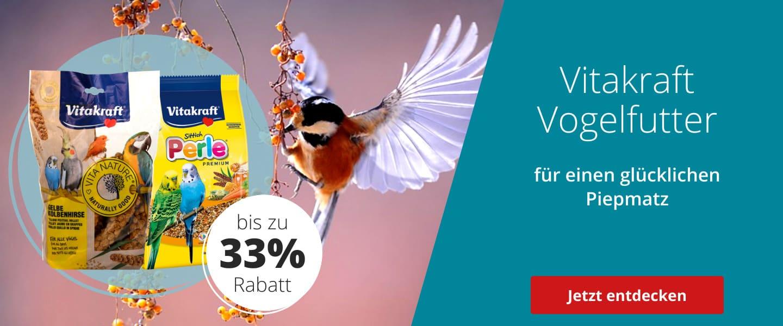 Vitakraft Vogelfutter bis zu 33% rabattiert
