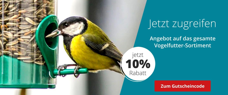 10% Rabatt auf das Vogelsortiment