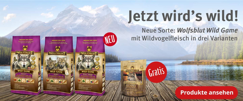 Wolfsblut Wild Game mit gratis Crackern
