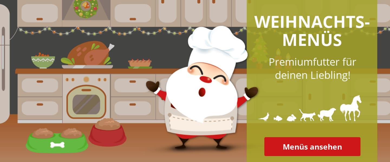 Weihnachtsmenüs - Premiumfutter im Angebot
