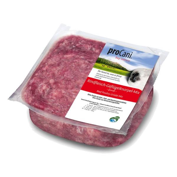 proCani Frostfutter Rindfleisch Geflügel Knorpel Mix