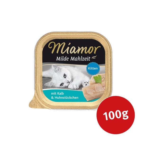 Miamor Katzenfutter milde Mahlzeit Kitten Kalb und Huhnstücke