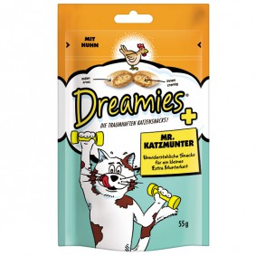 Dreamies Plus Katzensnack Mr. Katzmunter 55g