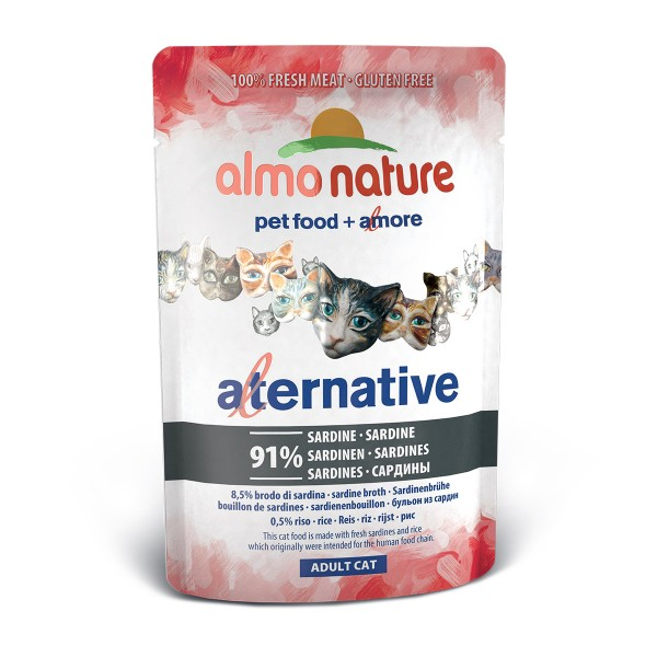 Haustier: Almo Nature Alternative wet Cat Sardine 24x55g