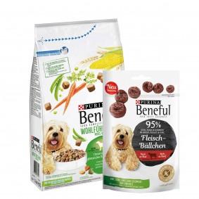 Beneful Wohlfühlgewicht mit Huhn, Gartengemüse & Vitaminen 1,5kg + Meatball Snack 70g GRATIS