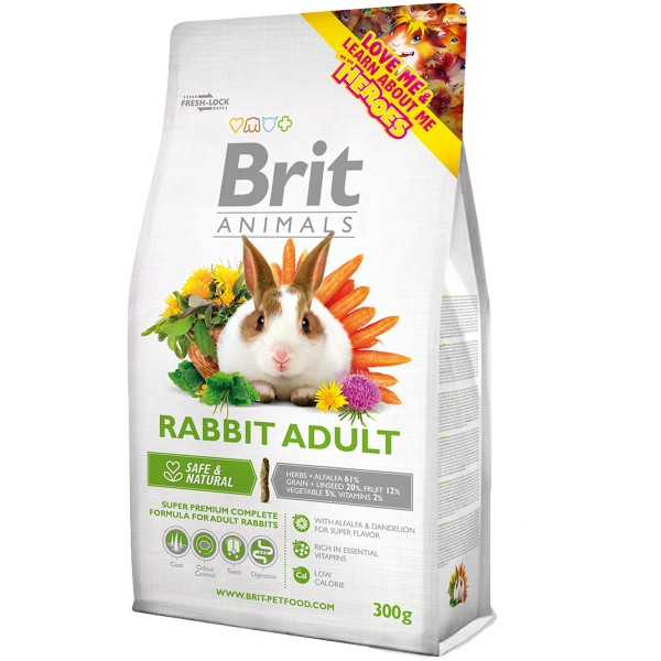 Haustier: Brit Animals Rabbit Adult Complete 300g