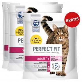 Perfect Fit Katzenfutter Adult 1+ reich an Lachs 1,4kg 2+1 gratis