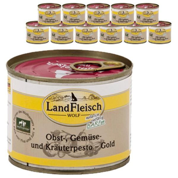 Landfleisch Dog Wolf Pesto Gold