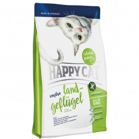 Happy Cat Sensitive Land-Geflügel 3x4kg