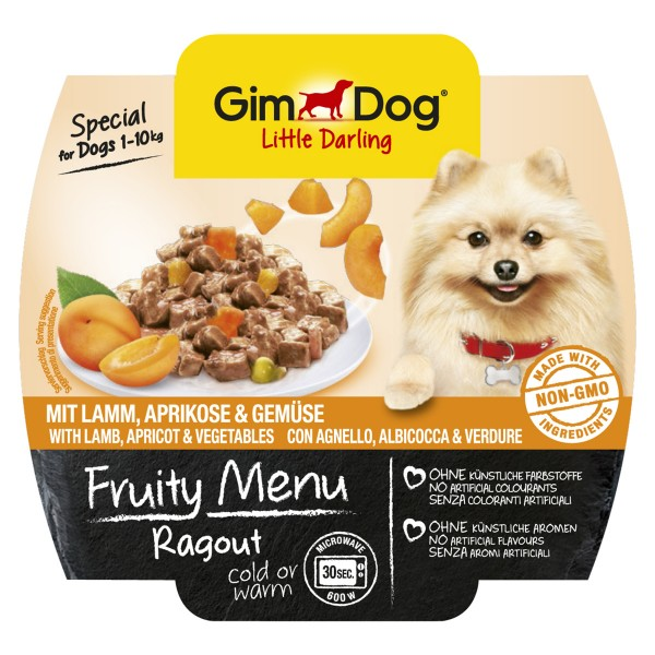 GimDog Little Darling Ragout Lamm, Aprikosen und Gemüse