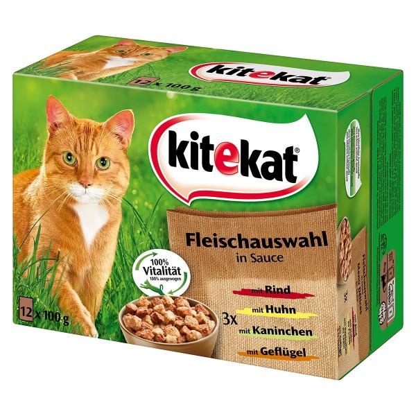 Kitekat Katzenfutter Leckere Fleischauswahl in Sauce
