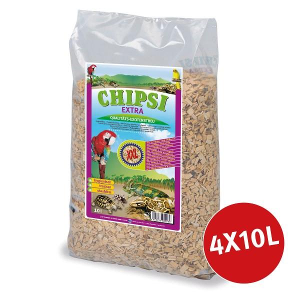 Chipsi Terrarien-Einstreu Extra XXL 4x10l
