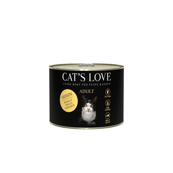 Cat's Love Nassfutter Huhn Pur mit Leinöl und Brennnessel