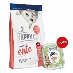 Happy Cat Sensitive Ente 300g plus Paté Geflügel & Lamm 100g