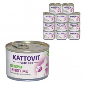 KATTOVIT Feline Diet Sensitive mit Truthahn 12x175g
