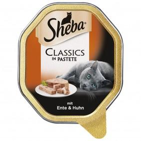Sheba Classics in Pastete mit Ente und Huhn