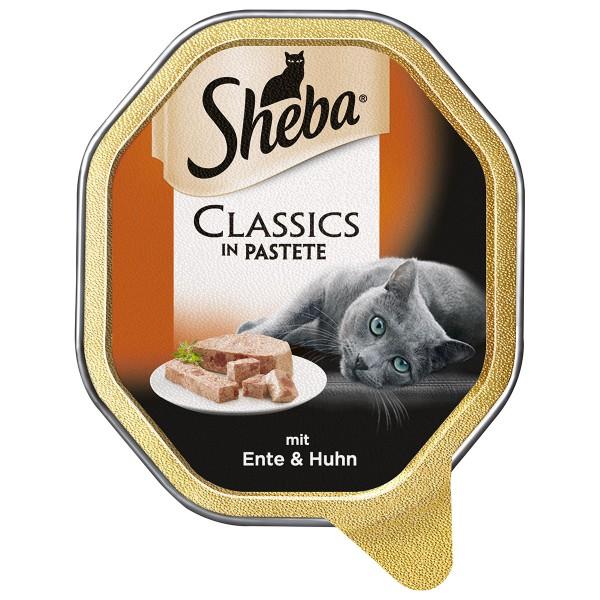 Sheba Katzenfutter Classics in Pastete Ente & Huhn