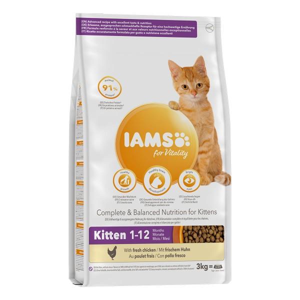 IAMS for Vitality Kitten mit frischem Huhn