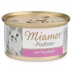 Miamor Nassfutter Katzenzarte Fleischpastete mit Thunfisch