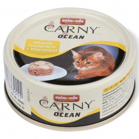 Animonda Katzenfutter Carny Ocean Weißer Thunfisch & Wachtelei