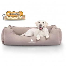 Knuffelwuff orthopädisches wasserabweisendes Hundebett Leon beige/grau
