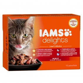 Iams Delights Multipack Land Collection in Gelee 12x85g