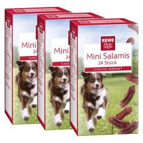 REWE Beste Wahl Mini Salami fleischig herzhaft 3x24 Stück