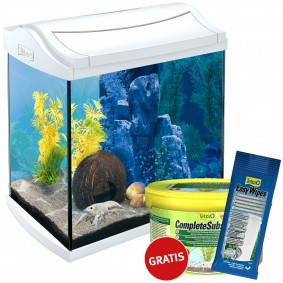 Tetra AquaArt LED Aquarium-Komplett-Set weiß 30l + Complete Substrate und Easy Wipes gratis