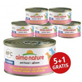 Almo Nature HFC Cuisine Dog Kalb mit Schinken 5+1 gratis