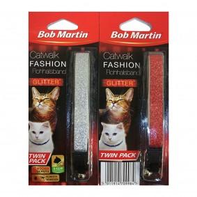 Bob Martin Catwalk Fashion Flohhalsband Glitter Doppelpack
