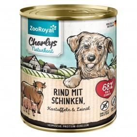 ZooRoyal Charlys Naturkost Rind mit Schinken Kartoffeln & Leinöl