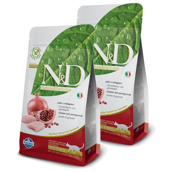 N&D Huhn&Granatapfel für kastrierte Katzen getreidefrei