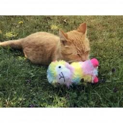 Aumüller Alpaka Angie Katzenspielkissen mit Baldrianwurzel und Dinkelspelz