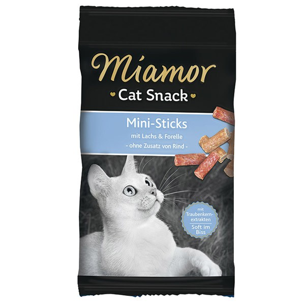 Miamor Cat Snack Mini-Sticks Lachs+Forelle 50g