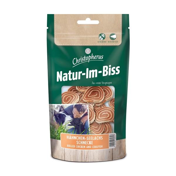 Christopherus Hundesnack Natur-Im-Biss Hähnchen-Seelachs-Schnecke 70g