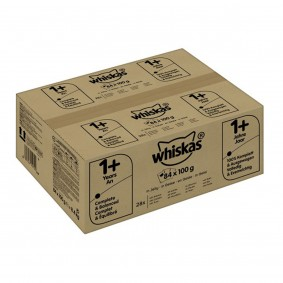 Whiskas Katzenfutter Multipack 1+ Fisch und Geflügelauswahl in Gelee 84x100g