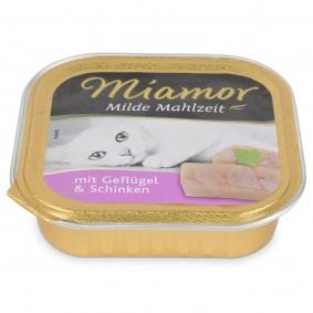 Miamor Katzenfutter milde Mahlzeit Geflügel und Schinken