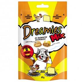 Dreamies Katzensnack Mix Huhn+Käse 60g
