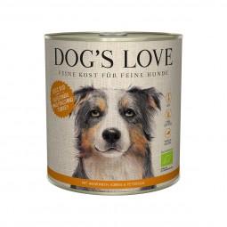 Dog's Love Bio Pute mit Amaranth, Kürbis und Petersilie