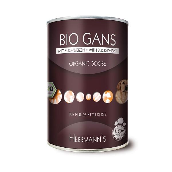 Herrmanns Hundefutter Bio Menü Gans+Buchweizen+...