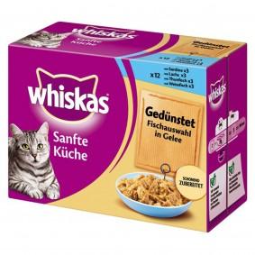 Whiskas Katzenfutter Sanfte Küche Fischauswahl in Gelee 12x85g