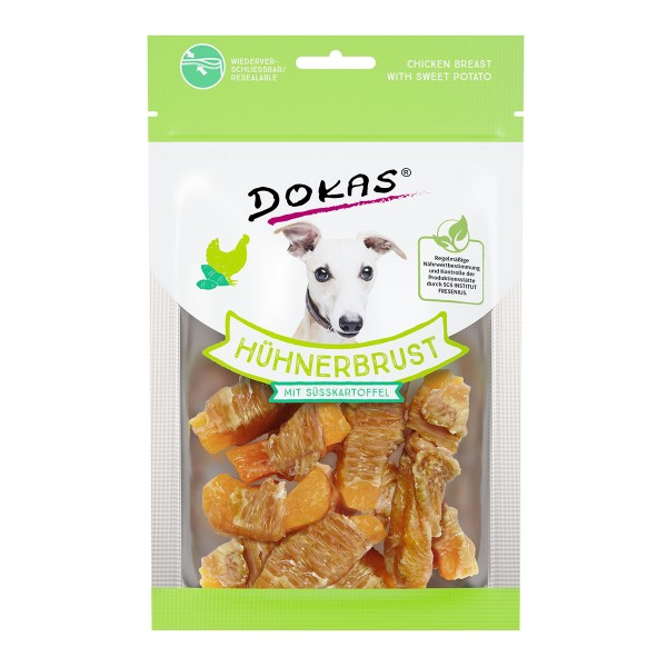 Dokas Hundesnack Hühnerbrust mit Süßkartoffel