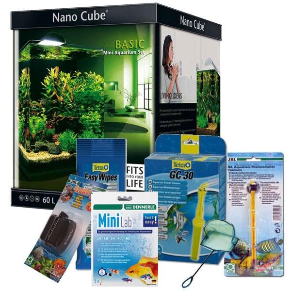Dennerle NanoCube Basic 60 Liter + Zubehör-Set