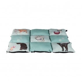 Trixie Decke Patchwork Cat 70×55cm mint