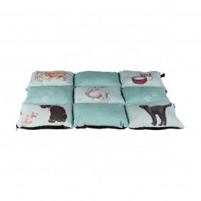 Trixie Decke Patchwork Cat 70×55cm mint