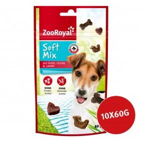 ZooRoyal Hundesnack Softmix mit Rind, Lamm & Huhn 10x60g
