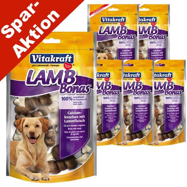 Vitakraft LAMB Bonas Calciumknochen 5x80g + 1x80g gratis