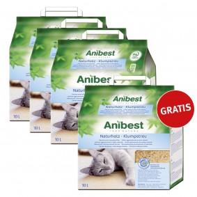 Anibest Naturholz Klumpstreu30L+10L gratis