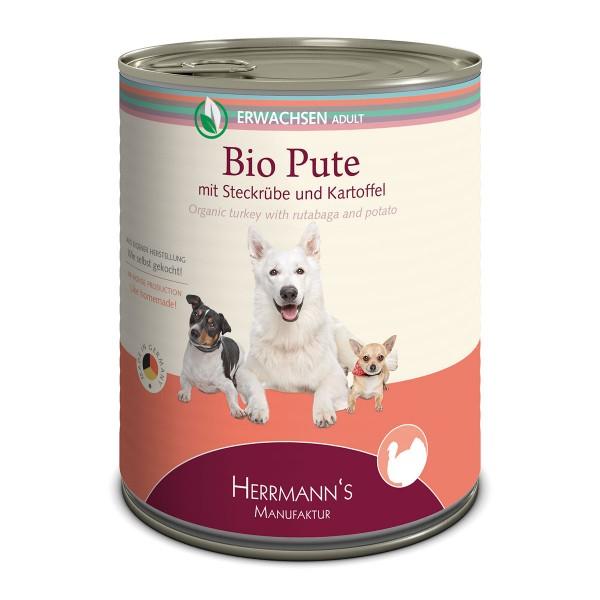 Herrmanns Bio Hundefutter Pute mit Steckrüben u...