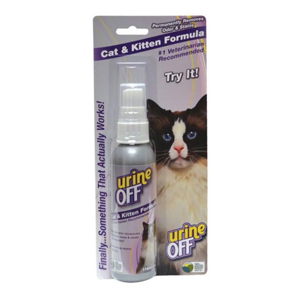 UrineOff Spray Katze Geruchs- und Fleckenentferner